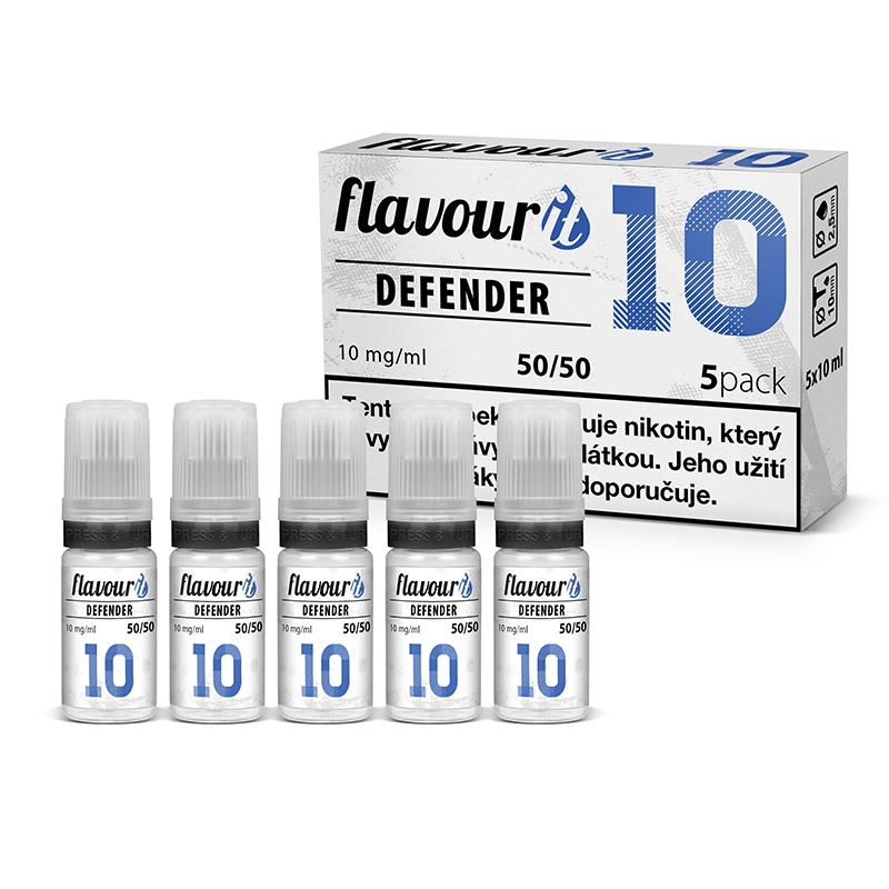 Flavourit DEFENDER - 50/50 10mg, 5x10ml