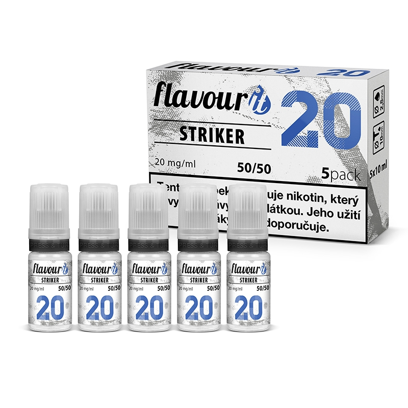 Flavourit STRIKER - 50/50 20mg booster, 5x10ml