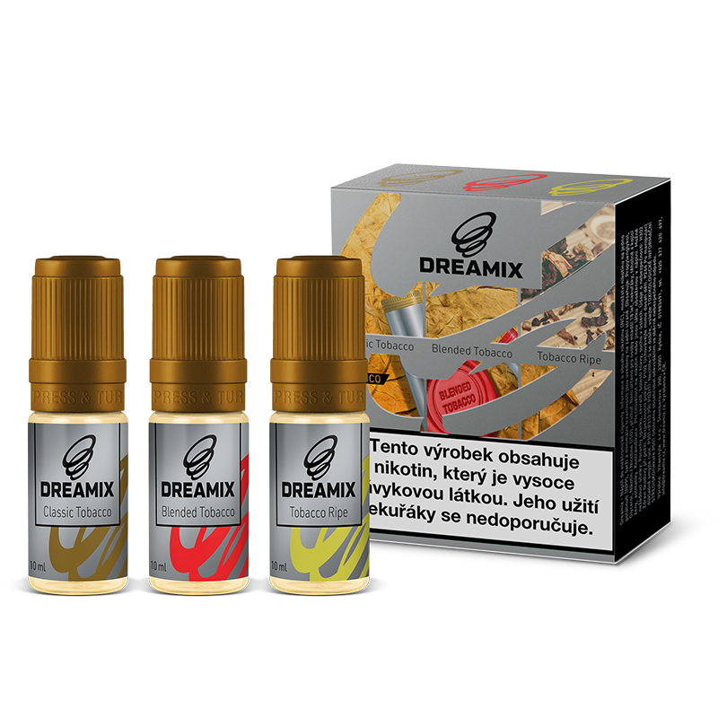 Dreamix 3x10ml - Klasický tabák, Směs tabáků, Čistý tabák