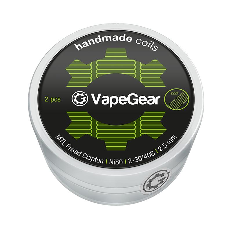 VapeGear Handmade Coils - MTL Fused Clapton Ni80, 2ks