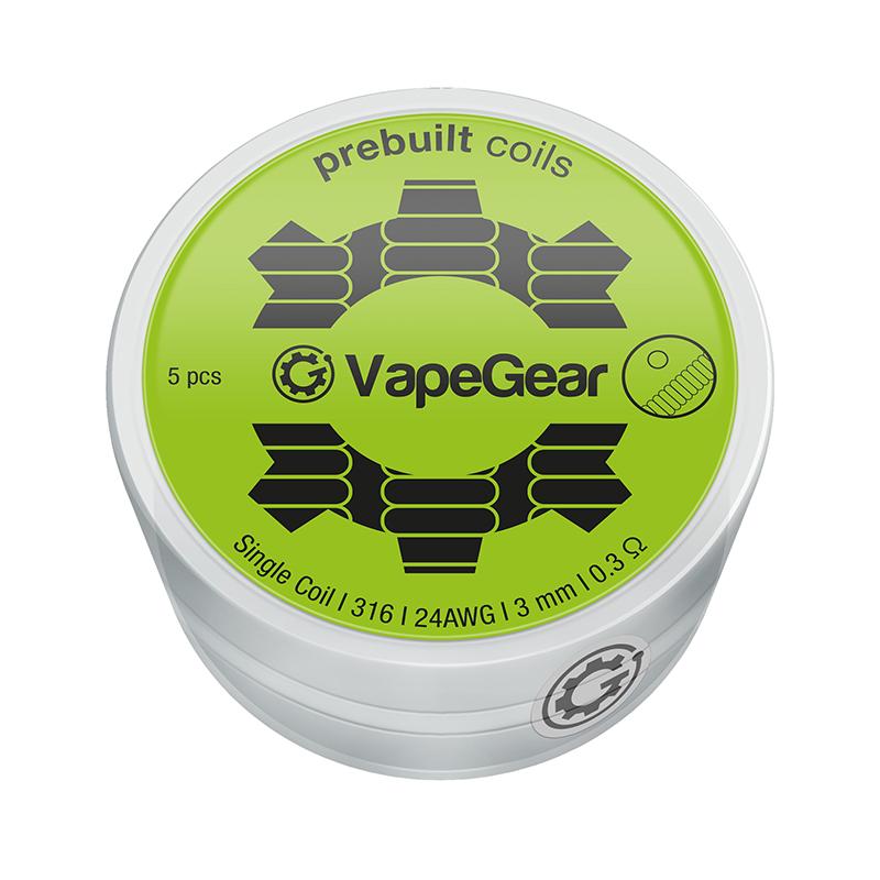 VapeGear předmotané spirálky - Single coil