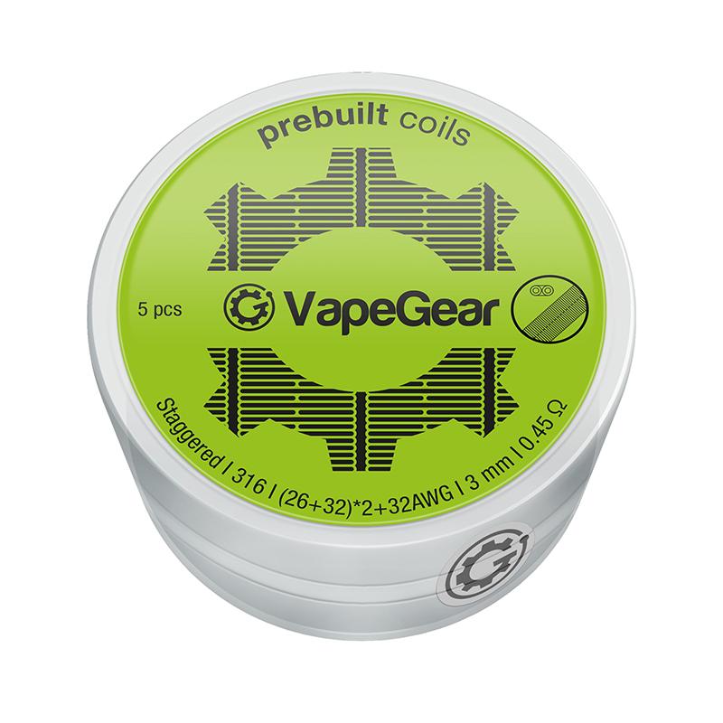 VapeGear předmotané spirálky - Staggered