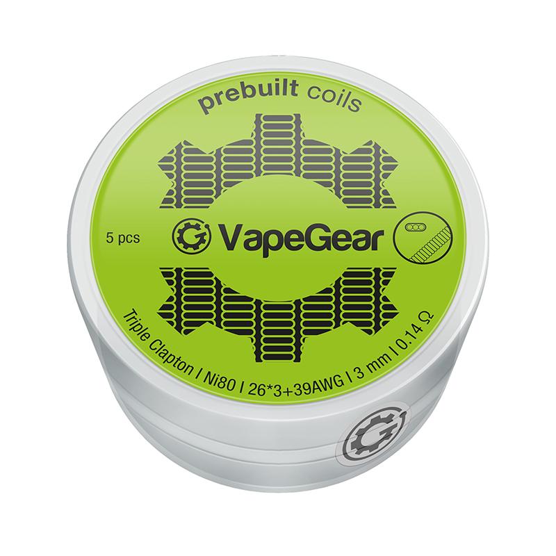 VapeGear předmotané spirálky - Triple Clapton