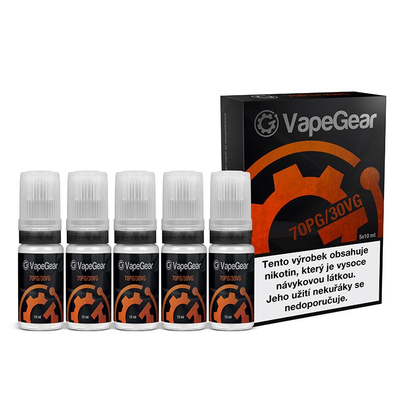 Nikotinová prémiová báze VapeGear - 70PG/30VG - 5x10ml