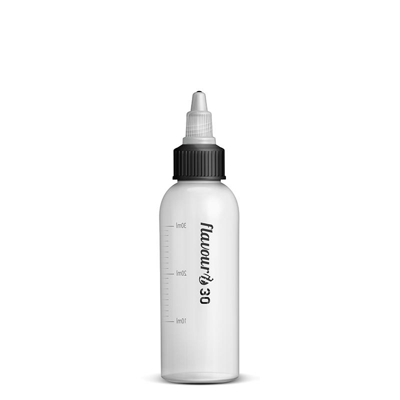 Prázdná lahvička Flavourit s twist uzávěrem a ryskou - 30ml